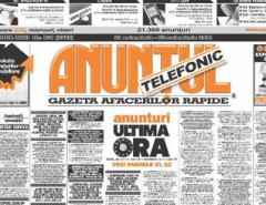 Anunturi ziarul Anuntul Telefonic - Mica publicitate in ziarul Anuntul Telefonic